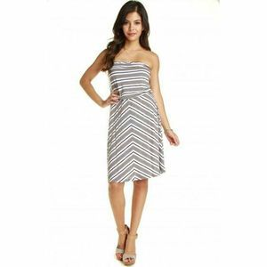 Michael Stars Dress New Galvanized Mercer Stripe